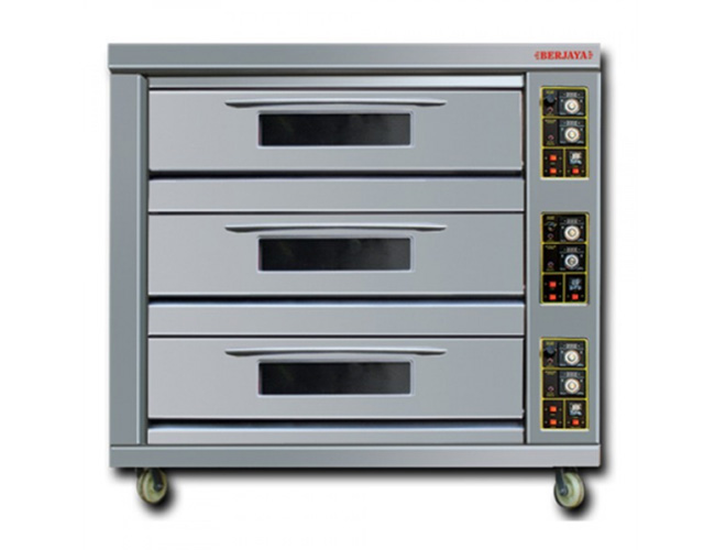Gas Heated Baking Oven (BJY-G270-3BD)