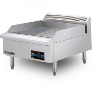 Stainless Steel Electrical Griddle (Half Ribbed)