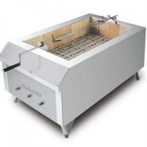 Stainless Steel Gas Meat Griller With Char Rock