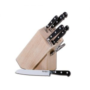 """""""Roccia"""" 8 pcs. Knives Block"""